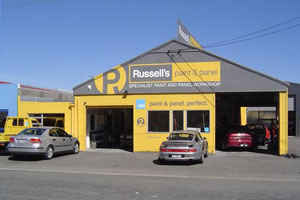 Russell's Paint and panel workshop