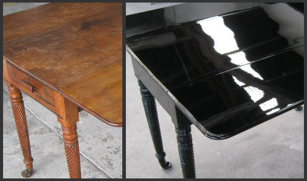 Antique table repainted