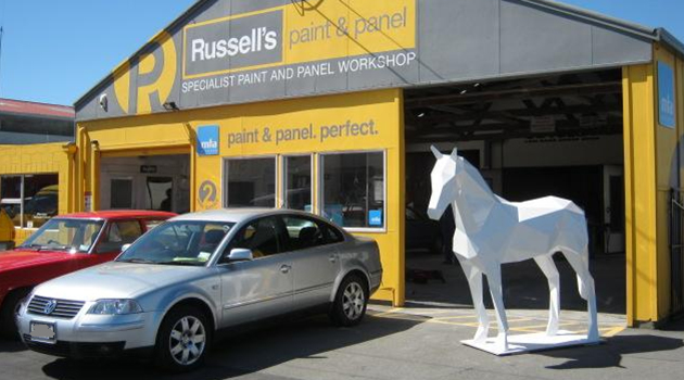 Work of art painted by Russells Paint and Panel